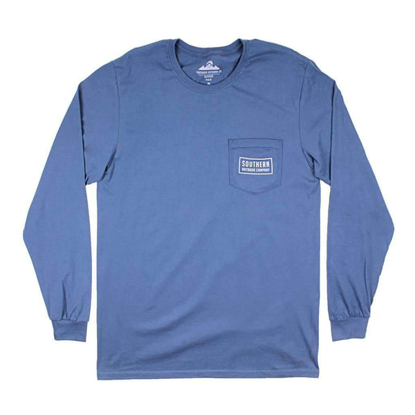 Seal Logo Long Sleeve Tee in Navy by Southern Outdoor Co. - FINAL SALE