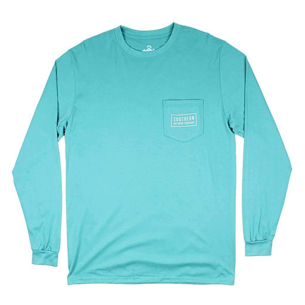 Southern Outdoor Co. Seal Logo Long Sleeve Tee in Outer Banks Teal