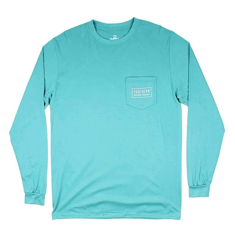 Seal Logo Long Sleeve Tee in Outer Banks Teal by Southern Outdoor Co. - FINAL SALE
