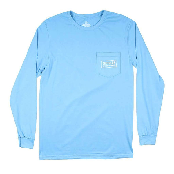 Southern Outdoor Co. Oak Diamond Long Sleeve Tee in Coastal Blue