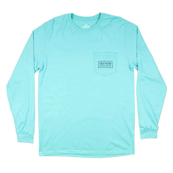 Southern Outdoor Co. Oak Diamond Long Sleeve Tee in Seafoam