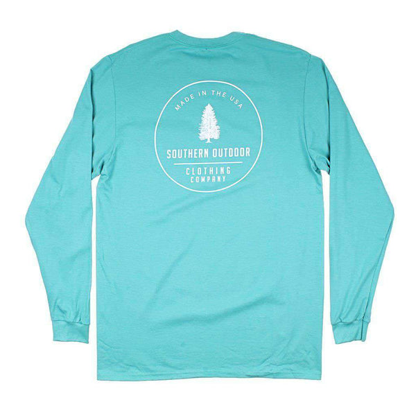Southern Outdoor Co. Circle Pine Long Sleeve Tee in Outer Banks Teal