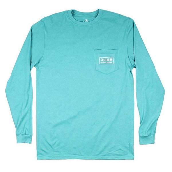 Circle Pine Long Sleeve Tee in Outer Banks Teal by Southern Outdoor Co. - FINAL SALE