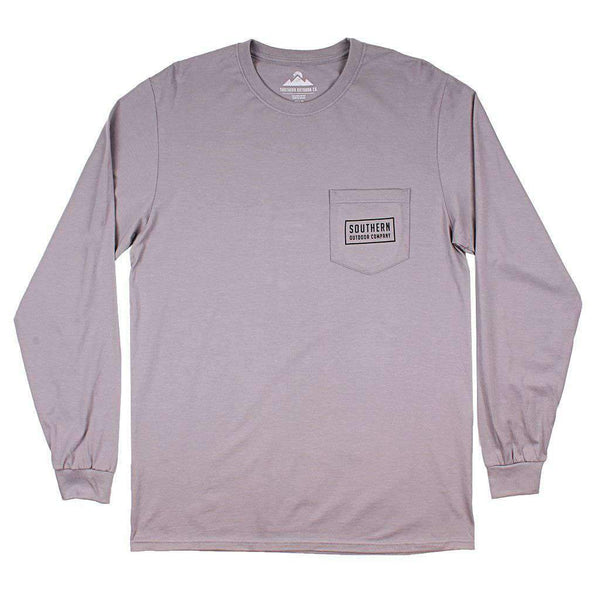 Classic Logo Long Sleeve Tee in Hurricane Grey by Southern Outdoor Co. - FINAL SALE