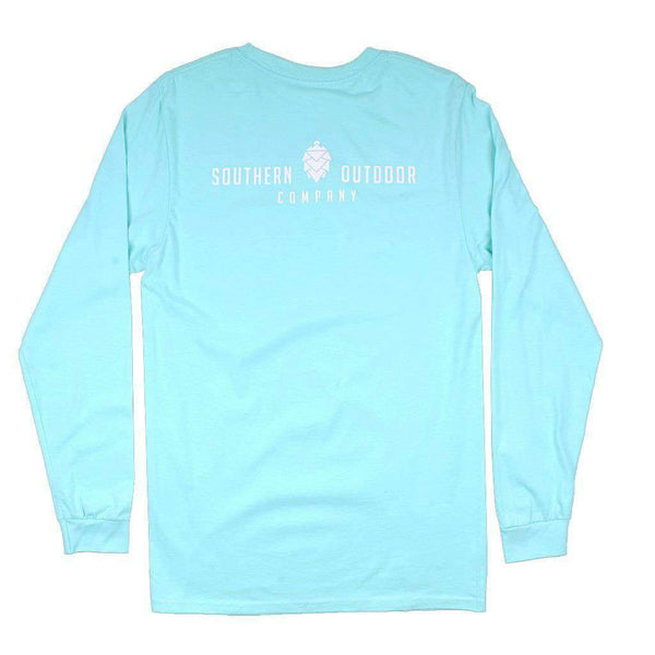 Southern Outdoor Co. Classic Logo Long Sleeve Tee in Clearwater Blue