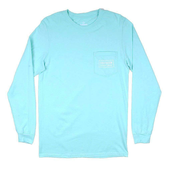 Classic Logo Long Sleeve Tee in Clearwater Blue by Southern Outdoor Co. - FINAL SALE