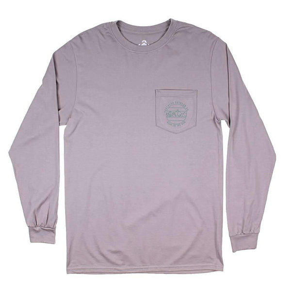 Mountain High Long Sleeve Tee in Hurricane Grey by Southern Outdoor Co. - FINAL SALE