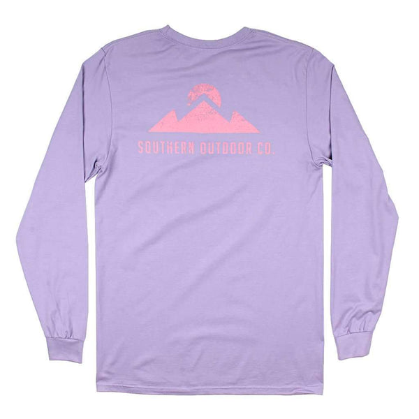 Southern Outdoor Co. Peak Logo Long Sleeve Tee in Purple Haze