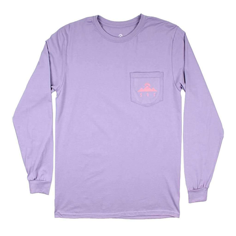 Peak Logo Long Sleeve Tee in Purple Haze by Southern Outdoor Co. - FINAL SALE