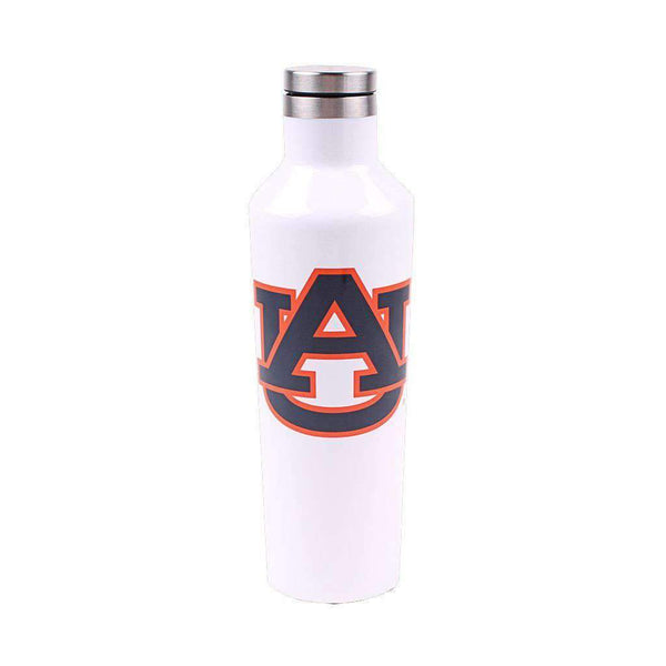 Corkcicle Auburn Logo 16 Oz. Canteen in Gloss White