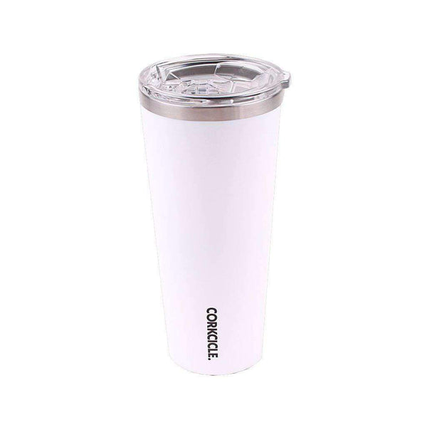 Corkcicle Auburn Logo 24oz Tumbler in Gloss White