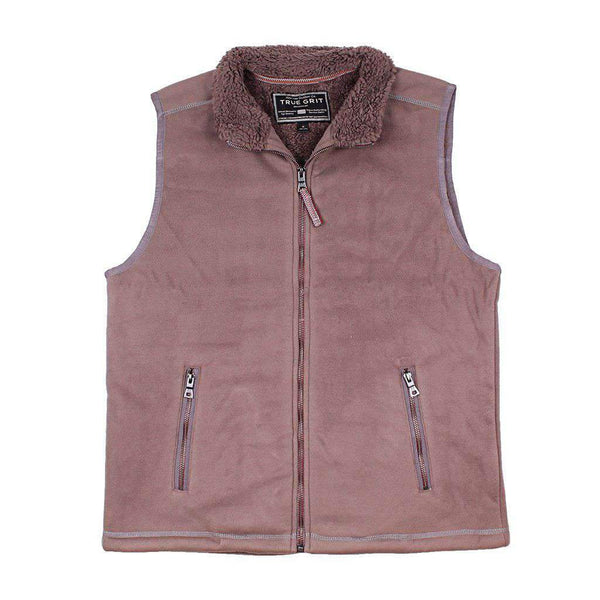 True Grit Bonded Polar Fleece & Sherpa Lined Vest in Cocoa