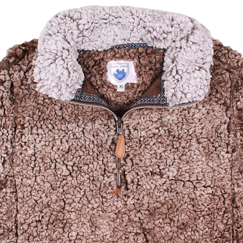 Nordic Fleece The Victoria Sherpa Pullover in Brown by Nordic Fleece