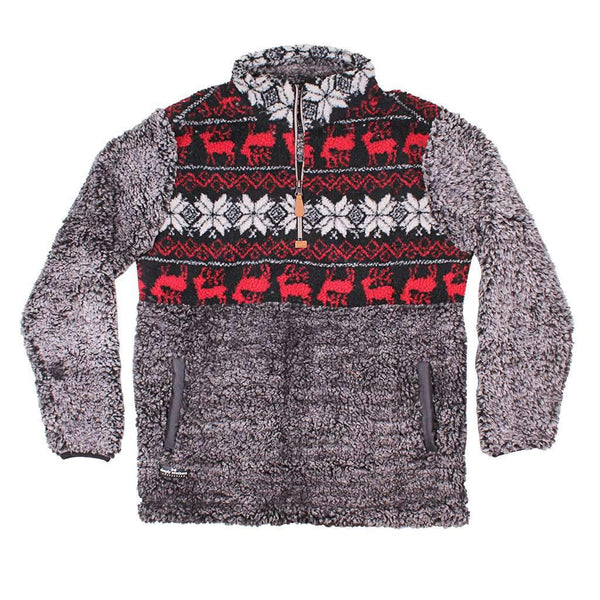 Simply Southern Deer Sherpa Pullover in Steel