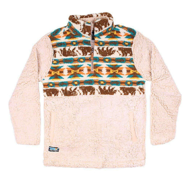 Simply Southern Bear Sherpa Pullover in Cream