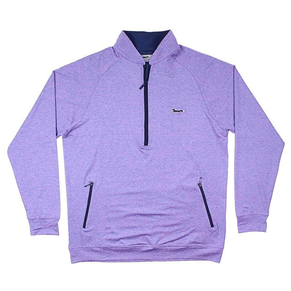 Country Club Prep Longshanks 1/4 Performance Pullover in Paisley Purple