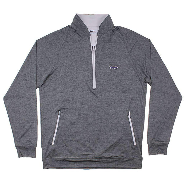 Country Club Prep Longshanks 1/4 Performance Pullover in Charcoal