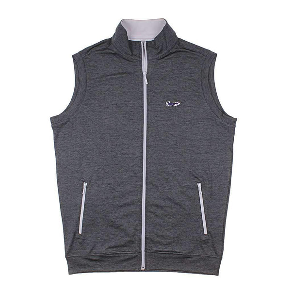Country Club Prep Longshanks Full Zip Performance Vest in Charcoal