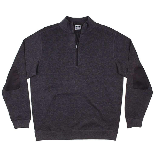 Country Club Prep Longshanks Knit 1/4 Pullover in Charcoal