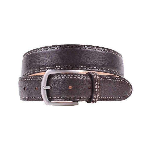 Country Club Prep Raleigh Elk Belt in Mahogany