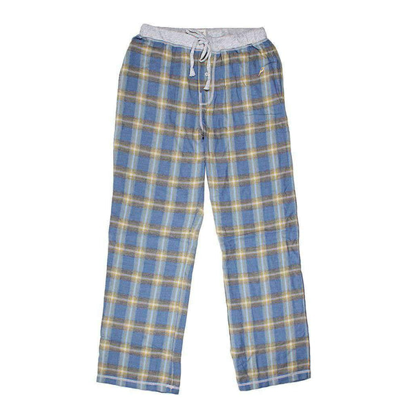 True Grit Dakota Plaid Flannel Pant in Blue