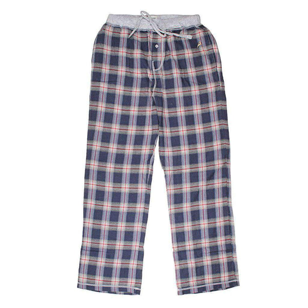 True Grit Dakota Plaid Flannel Pant in Indigo