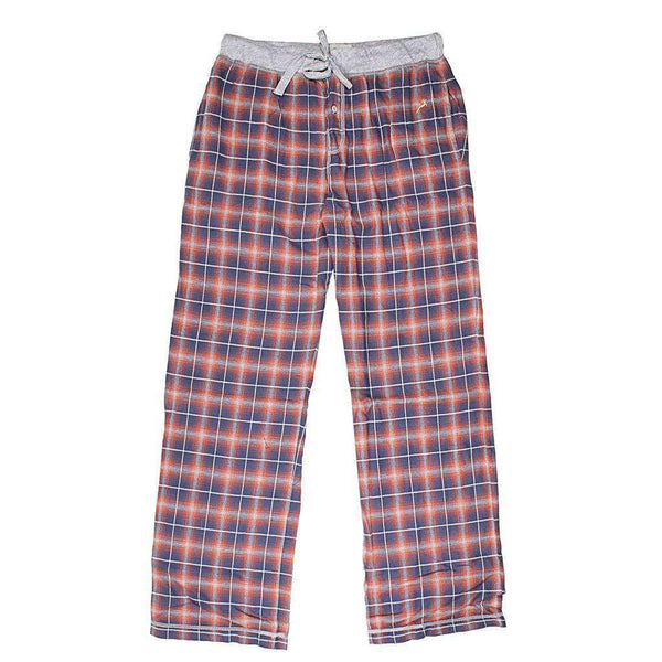 True Grit Crossroads Plaid Flannel Pant in Blue
