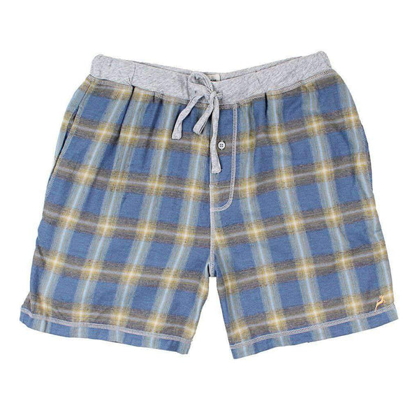 Dakota Plaid Flannel Boxer in Blue by True Grit
