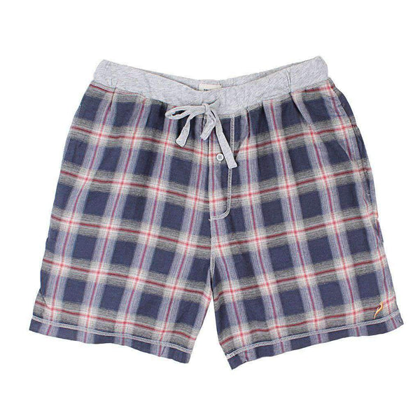 Dakota Plaid Flannel Boxer in Indigo by True Grit