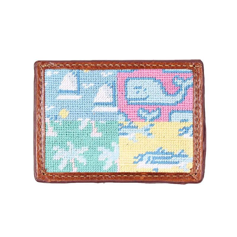 Vineyard Vines Patchwork Needlepoint Credit Card Wallet by Smathers & Branson