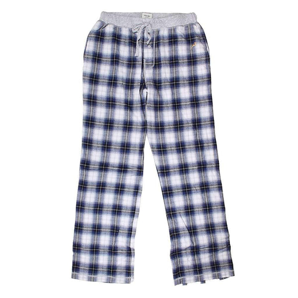 True Grit Shadow Plaid Flannel Pant in Blue