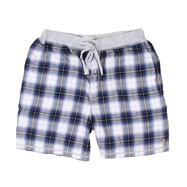 True Grit Shadow Plaid Flannel Boxer in Blue