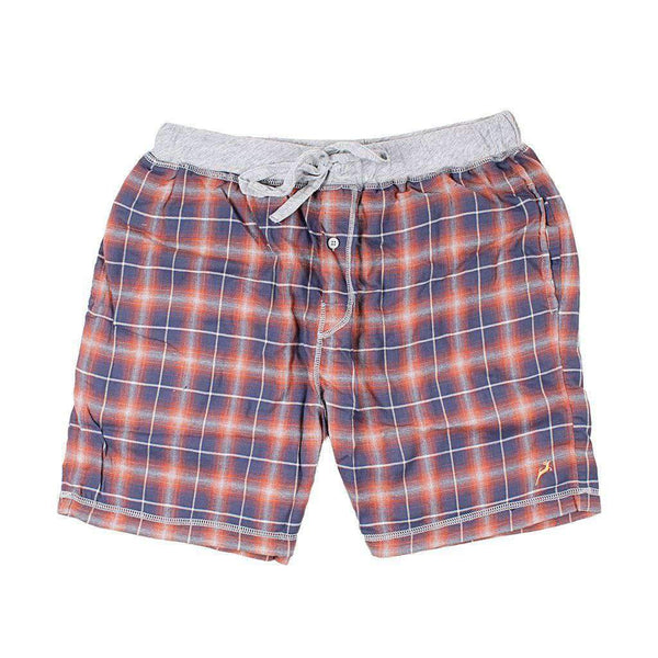 True Grit Crossroads Plaid Flannel Boxer in Blue