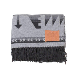 Mustang Fringe Blanket in Grey by True Grit
