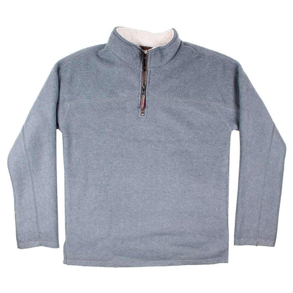 True Grit Melange & Sherpa 1/4 Zip Pullover in Heather Grey