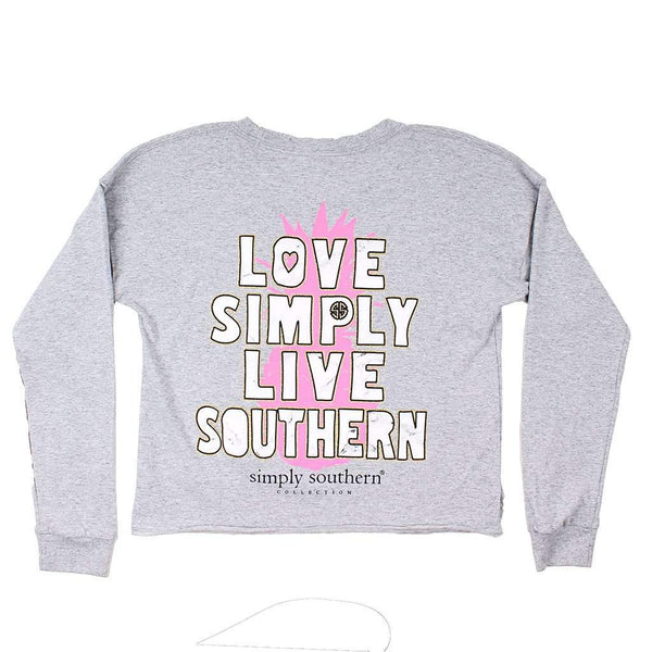 Simply Southern Shortie Live Southern Tee in Heather Grey