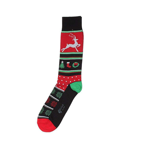Byford Christmas Motifs Socks in Black by Byford