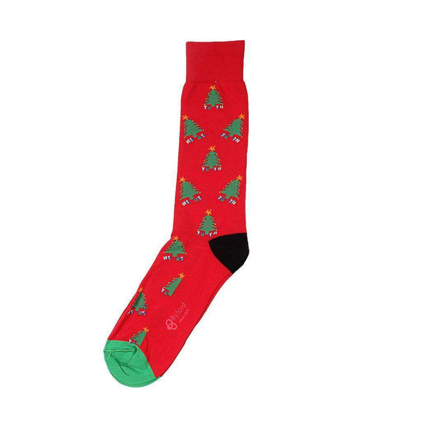 Byford Christmas Trees Socks in Red