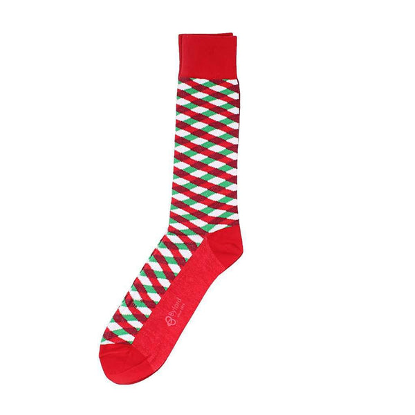 Byford Holiday Basket-weave Socks in Red
