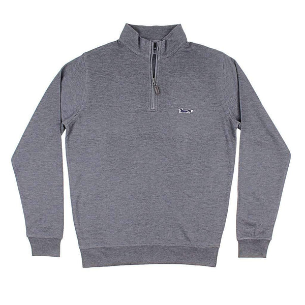 Country Club Prep Longshanks Hybrid 1/4 Zip Pullover in Charcoal
