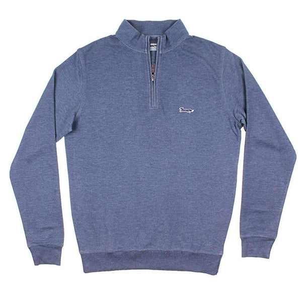 Country Club Prep Longshanks Hybrid 1/4 Zip Pullover in Navy