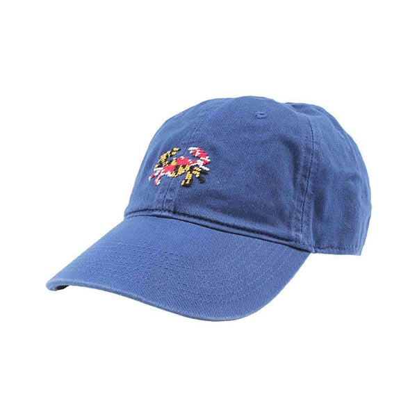 Smathers & Branson Maryland Flag Crab Needlepoint Hat in Navy