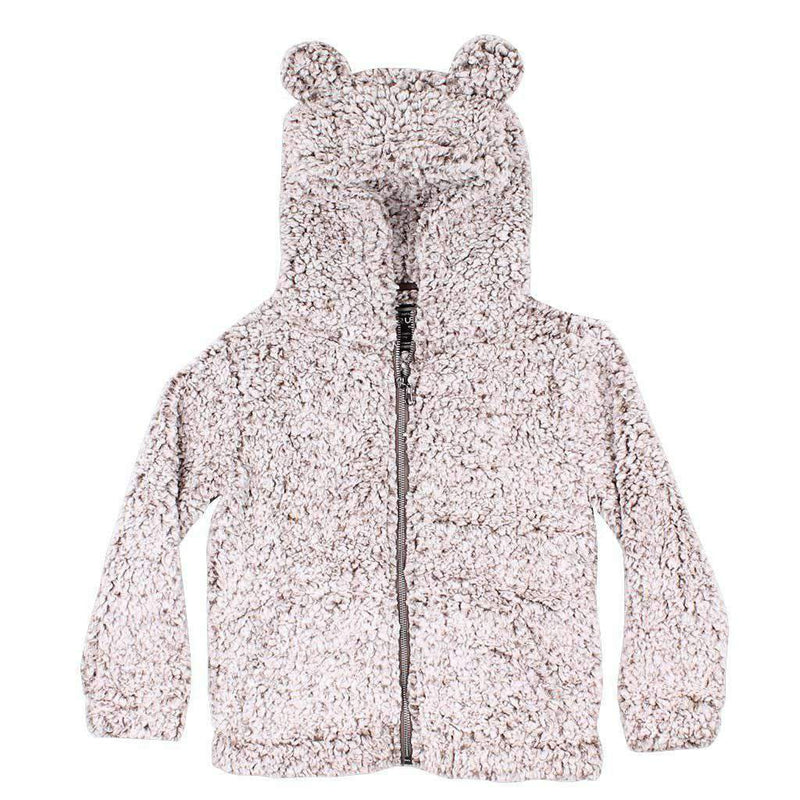 True Grit CHILD'S Frosty Tip Teddy Bear Pullover in Brown