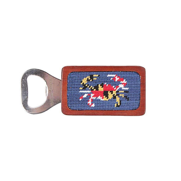 Smathers & Branson Maryland Flag Crab Needlepoint Bottle Opener in Classic Navy