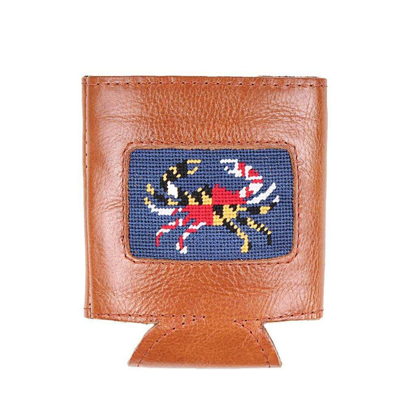 Smathers & Branson Maryland Flag Crab Needlepoint Can Cooler in Classic Navy