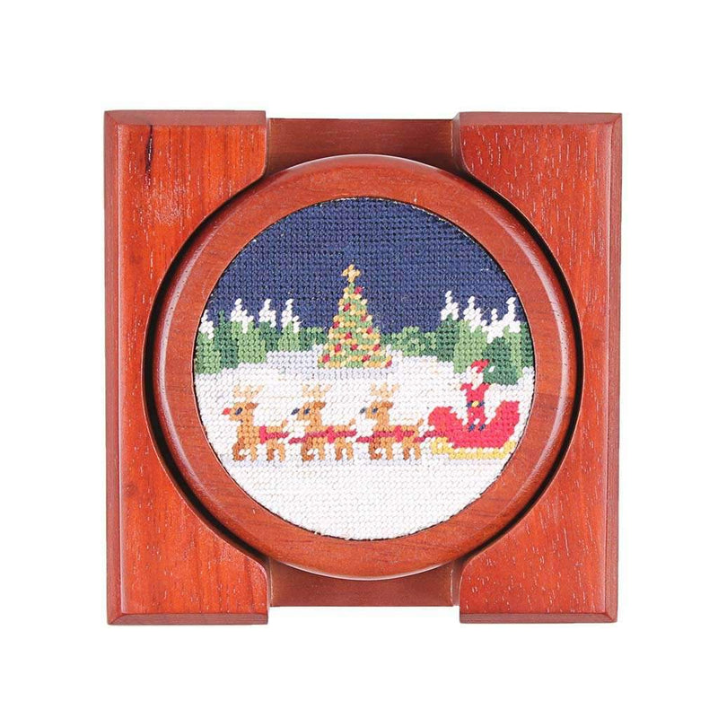 North Pole Needlepoint Coasters by Smathers & Branson
