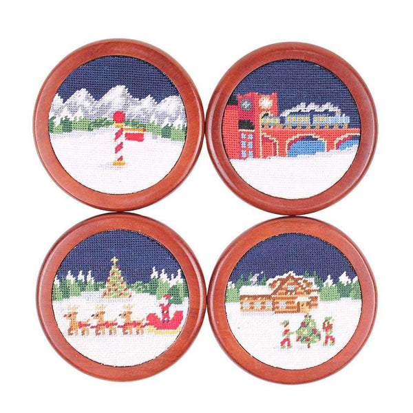 Smathers & Branson North Pole Needlepoint Coasters