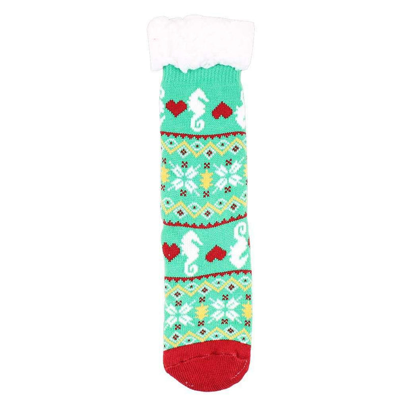 Seahorse Sherpa Lined Socks by Simply Southern