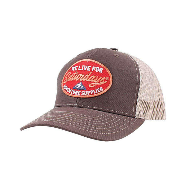 We Live For Saturdays Adventure Supplier Trucker Hat
