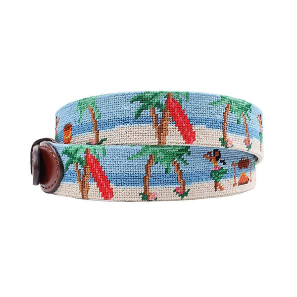 Smathers and Branson Luau Scene Needlepoint Belt